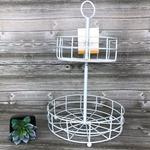 Target BP white wired tiered tray bullseye